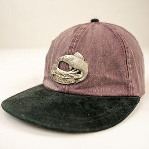 Nakina Ontario Canada Strapback Leather Dad Hat
